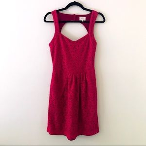 ANTHROPOLOGIE Magenta Lace Dress
